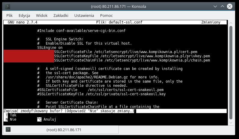 SSL Konfiguracja Apache