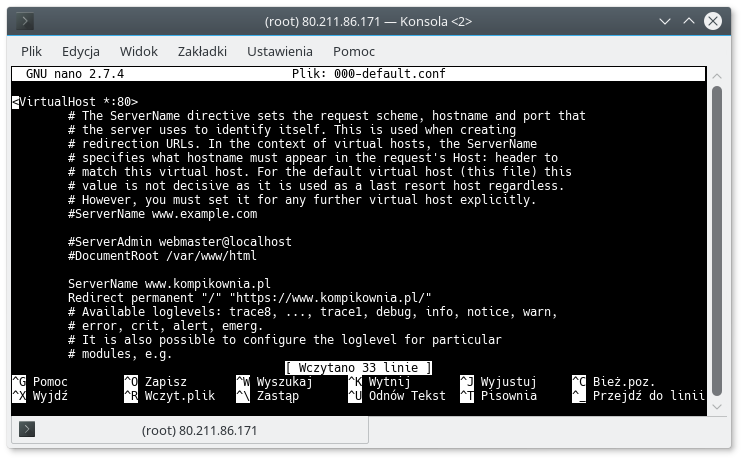 Apache przekierowanie 301 http