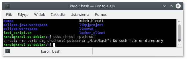 Jak stworzyć chroot Raspbian (ARM) na Debianie (x86_64