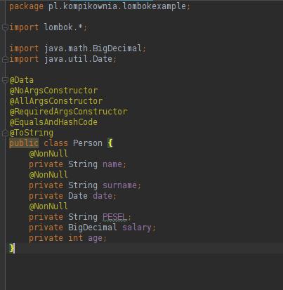 Umiejętność obsługi IDE – Java – Intellij IDEA – Lombok
